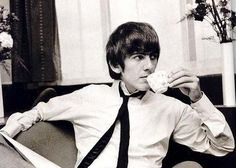 George and the teacup and tie.