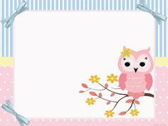 New Baby Shower Invitaciones Buhos Ideas Baby Shower Cakes Neutral, Boy Baby Shower Themes, Baby Shower Gifts, Owl Clip Art, Pink Owl, Baby Owls, Printable Designs, Preschool Art, Note Paper