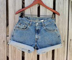 Vintage LEVI Jean Shorts  HIGH Waist  Size US by TomieHarlene, $18.50