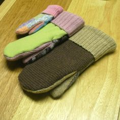 Sewing Pattern - Easy Recycled Sweater Mittens