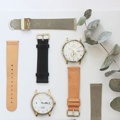 Our interchangeable straps make it easy to change the style of your watch. Feel free to mix and match! Find all straps at TRIWA.com!