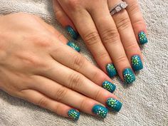 Painted nail design