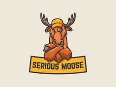 Serious moose by Gendarme
