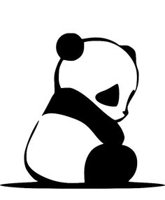 Urban Dictionary on sad pandas: A Sad panda has no family, no friends and nO FUTURE. We want to make the life of a panda more happy. Join us in our quest for saving the pandas. Panda Triste, Panda Mignon, Panda Wallpapers, Wallpapers Tumblr, Panda Art, Panda Panda, Silhouette Portrait, Silhouette Cameo, Rock Art