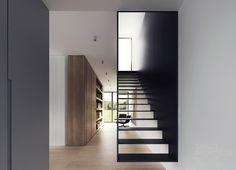 wunderschöne luftige Stahlkonstruktion der Treppe