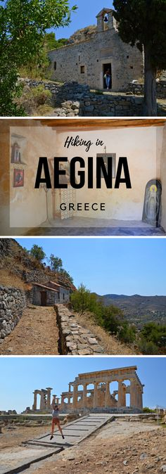 Hiking in the Greek Island of Aegina. From Paleochora to the Temple of Aphaea and Agia Marina.. Greece.