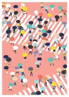 Crossing the street on a rainy day by Putri Febriana. In Flow 7-2015 (Dutch edition) you can read all about the refreshment a little bit of rain can bring you