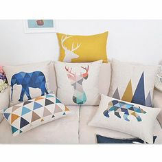 Animals Print  Pillow Covers
