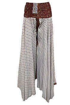 Women's Skirt Ivory Floral Printed Vintage Silk Long Skirts Mogul Interior http://www.amazon.com/dp/B017BIBRGY/ref=cm_sw_r_pi_dp_1wLmwb1N77171