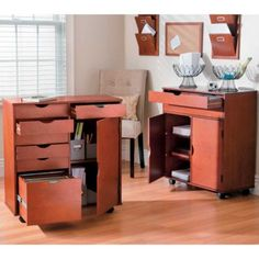 Rolling carts with drawers and shelves...great for a craft room/area!