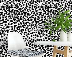 Top-rated, vivid, and easy-to-apply removable wallpaper by SweetPeaWallDesign Pineapple Wallpaper, How To Remove, How To Apply, Temporary Wallpaper, Self Adhesive Wallpaper, State Art, Wall Murals, Animal Print Rug, Etsy Seller