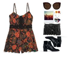 """""""Coachella Style N°8"""" by yellowgrapes ❤ liked on Polyvore featuring Topshop, ...Lost, Quay, Zara and Rebecca Minkoff"""