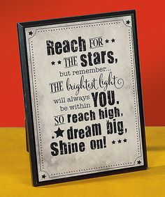 Look what I found on #zulily! 'Reach for the Stars' Plaque by Abbey Press #zulilyfinds