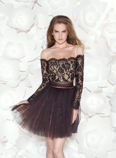 short black lace prom dress with sleeves Naf Dresses