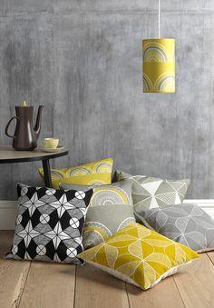 Sian Elin cushions-yellow-grey