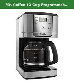 Mr. Coffee 12-Cup Programmable Coffee Maker, Stainless Steel/Black Base - Includes Water Filtration. Mr. Coffee 12-Cup Programmable Coffeemaker uses stainless steel accents to complement the decor of many of today's contemporary-style kitchens. Designed with an enlarged showerhead to extract the coffee's full flavor by allowing water to completely saturate the coffee grounds. Includes water filtration which helps remove up to 97 percent of the chlorine from the water and improves the…
