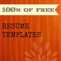 Seniors Resume templates and instructions for high school students