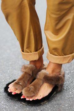 fur birkenstocks