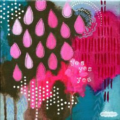 Energy Mini original painting: Yes // by Jessica Swift. Only one available -- great last-minute meaningful gift!