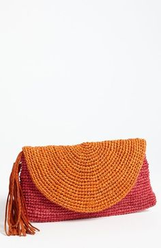 Mar y Sol 'Camille' Raffia Clutch available at #Nordstrom