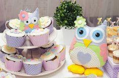 Cupcake  para Festa de Aniversário Coruja