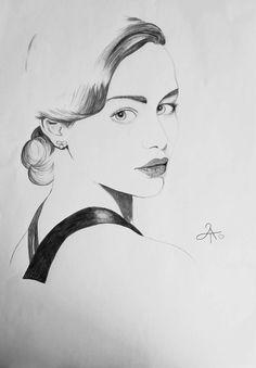 Lady in Black Portrait Original von leslieannthoms auf Etsy, €110.00