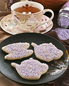 Lavender Sugar Cookies with Amethyst Shimmer - fun and pretty sugar cookies flavored with culinary lavender perfect for afternoon tea. | Tales of the High Teas at TeaTattler.com