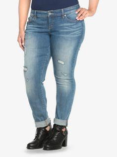 480e255479c Torrid Skinny Jean - Light Wash with Destruction (Regular). Trendy Plus ...