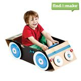 Makedo- they sell small parts that help you up the ante on that cardboard car!