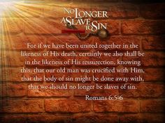 We are no longer slaves in bondage.  Because of the BLOOD OF THE LAMB we are redeemed, we are free!