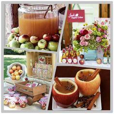 Apple cider station - for the engagement party