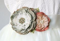 Hey, I found this really awesome Etsy listing at https://www.etsy.com/listing/226089803/wedding-sash-floral-bridal-sash-sage