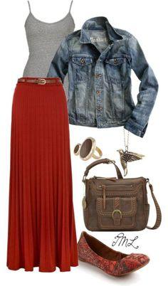 Dear Stitch Fix stylist, I would love a red slightly pleated maxi shirt.