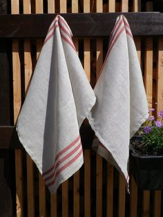 #handmade 2 Linen Towels Kitchen Linen Towels Hand Towels by pointartgame