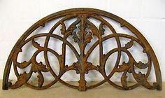 Neu-Bogen-Fenster-Gitter-Tuer-Tor-Zaun-Eisen-Gusseisen-Fenstergitter-Ornament