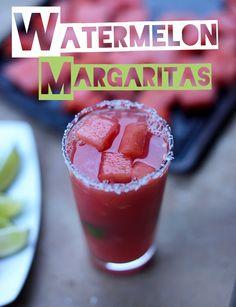 Watermelon Lime Margaritas!