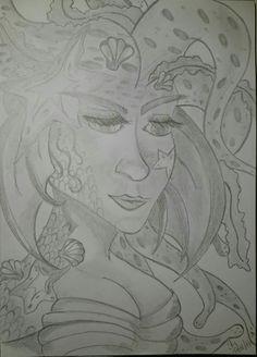 Meerjungfrau - Bleistift