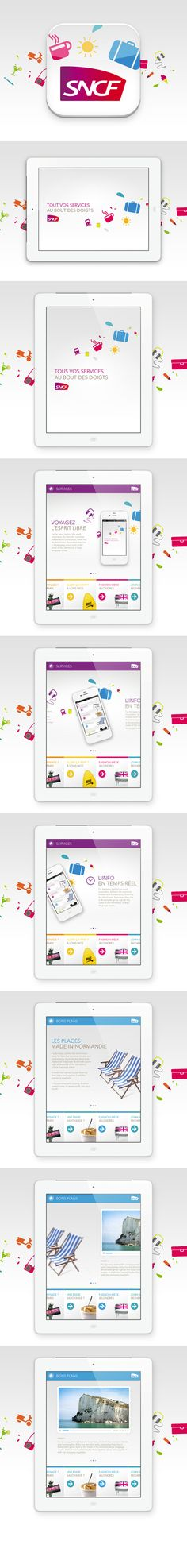 Simple, but effective | SNCF Ipad Application by yul , via Behance  http://www.techirsh.com