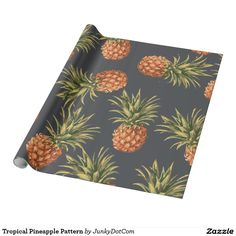 Tropical Pineapple Pattern Wrapping Paper