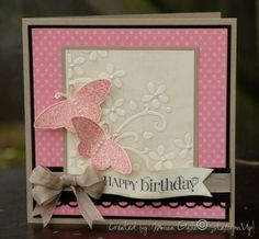 beautiful pink butterfly card by eula.snow
