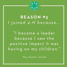 Reason #3: To lead.