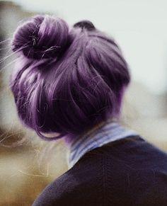 Dull dark purple colored hair>>> Hmmm... Do I want more purple in my hair? ;)