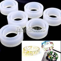 Crystal Ring Jewelry Mold Pendant Silicone Resin Craft Hand Make Tool DIY 17mm