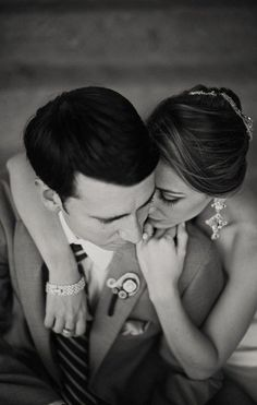 (7) Looking down from above couple seated on stairs