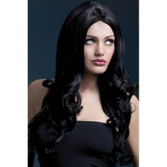Fever Rhianne Wig, Long, Curly,Black