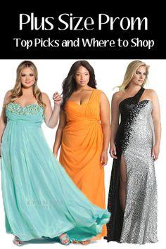 d285d2e483a18 Plus Size Prom....o I like the dress on the left for