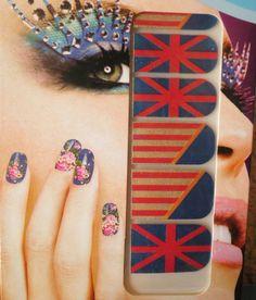 stickers ongles-bijoux autocollant-nail art-tattoo-drapeau-anglais-américain