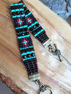 Loomed beaded bracelets by NancysCrystalJewelry on Etsy https://www.etsy.com/listing/243594232/loomed-beaded-bracelets