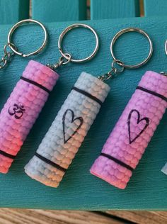Valentine's Day is coming! Don't be caught without a gift for your bae! Or if you're celebrating Single's Awareness Day, why not treat yourself? These yoga mat keychains are only $5.25 on Etsy and make the perfect gifts! Remember, the keychains come in lots of designs including plain. #iheartyoga #yogalove #valentinesday #vday #singlesawarenessday #yogavalentine