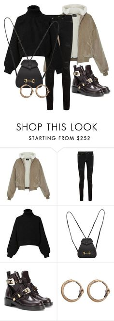 """""""Untitled #2676"""" by mariie0h ❤ liked on Polyvore featuring Yves Saint Laurent, Diesel, Gucci, Balenciaga and Acne Studios"""